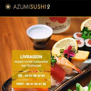 réalisation du site web azumisushi
