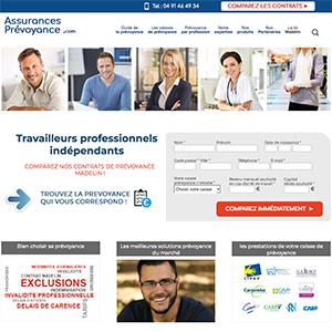 création et referencement du site assurances-prevoyance.com